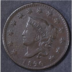 1820 SMALL DATE LARGE CENT  F-VF