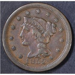 1852 LARGE CENT  XF