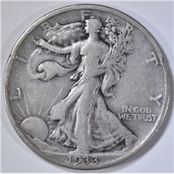 1933-S WALKING LIBERTY HALF DOLLAR  VF/XF
