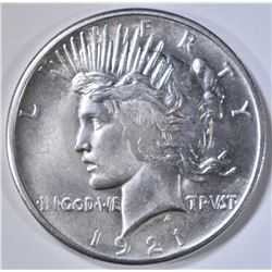 1921 PEACE DOLLAR  GEM BU