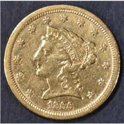 1866-S $2.5 GOLD LIBERTY  XF/AU