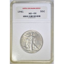 1941 WALKING LIBERTY HALF DOLLAR  CCGS SUPERB GEM