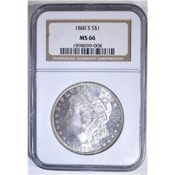 1880-S MORGAN DOLLAR  NGC MS-66