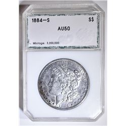 1884-S MORGAN DOLLAR  PCI AU