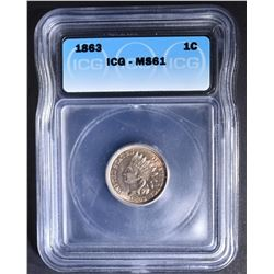 1863 INDIAN CENT  ICG MS-61