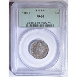 1890 LIBERTY NICKEL  PCGS PR-64