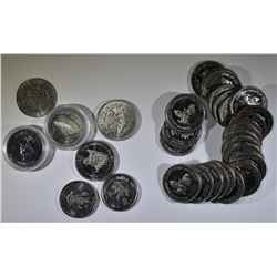 LOT OF 33 DOLLAR CANADIAN TOKENS