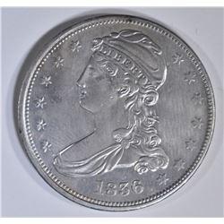 1836 REEDED EDGE BUST HALF DOLLAR  AU/BU