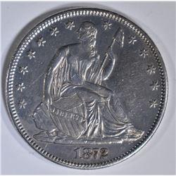 1872 SEATED LIBERTY HALF DOLLAR  CH AU
