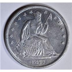 1877-S SEATED LIBERTY HALF DOLLAR  AU/BU