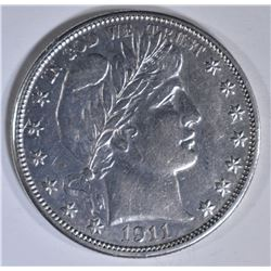 1911-D BARBER HALF DOLLAR  AU