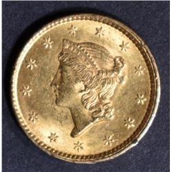 1853 GOLD DOLLAR  BU