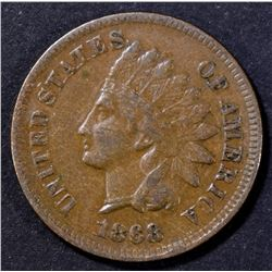 1868 INDIAN CENT VF