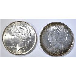 1923-P,D PEACE DOLLARS, BU