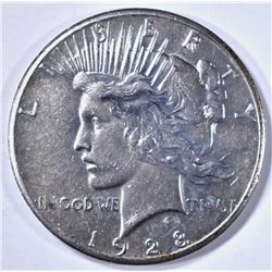1928 PEACE DOLLAR AU