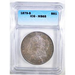 1879-S MORGAN DOLLAR ICG MS-65 COLOR