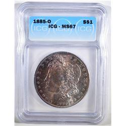 1885-O MORGAN DOLLAR ICG MS-67