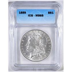 1889 MORGAN DOLLAR ICG MS-65