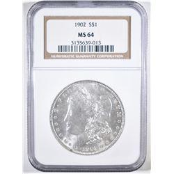 1902 MORGAN DOLLAR NGC MS-64
