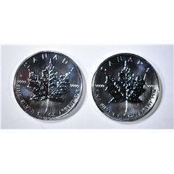 2-BU 2006 CANQADIAN SILVER DOLLARS