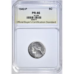 1942-P SILVER JEFFERSON OBCS  GEM PROOF