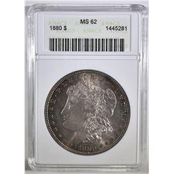 1880 MORGAN DOLLAR ANACS MS-62