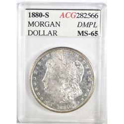1880-S MORGAN DOLLAR ACG GEM BU DMPL