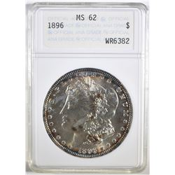 1896 MORGAN DOLLAR ANACS MS-62