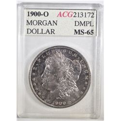 1900-O MORGAN DOLLAR ACG GEM BU DMPL