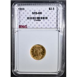 1903 $2.50 GOLD LIBERTY RNG SUPERB GEM BU