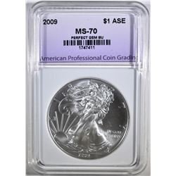 2009 AMERICAN SILVER EAGLE, APCG PERFECT GEM BU