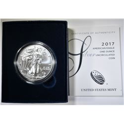 2017-W SILVER EAGLE BU BOX AND CERT