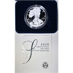 2020 PROOF AMERICAN SILVER EAGLE ORIG BOX/COA