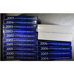 2 EACH 2000-2007 U.S. PROOF SETS