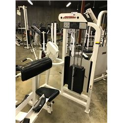 LIFE FITNESS SEATED ARM CURL STATION SOME WEAR IN PADDING