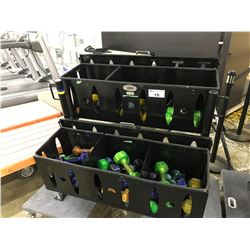 BLACKS 6 COMPARTMENT STORAGE UNIT WITH MISC. GEL WEIGHTS