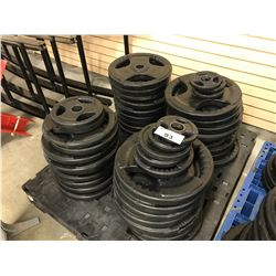 LOT 4 STACKS OF  MISC. FLAT PLATES