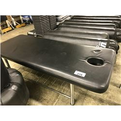 BLACK MASSAGE TABLE - SOME CONDITION ISSUES