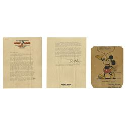 1931 Walt Disney Signed Letter on Studio Stationery.