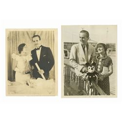Pair of Walt Disney Press Photographs.