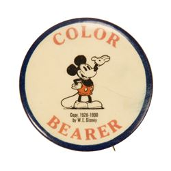 Mickey Mouse Club Color Bearer Button.