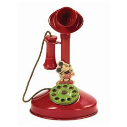 Mickey Mouse Toy Candlestick Telephone.