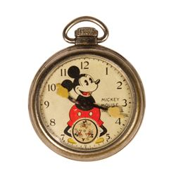 Mickey Mouse Ingersoll Pocket Watch.