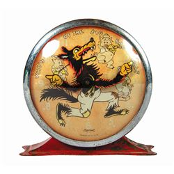 Who's Afraid of the Big Bad Wolf Ingersoll Alarm Clock.