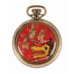 Three Little Pigs Ingersoll Pocket Watch.