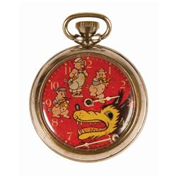 Three Little Pigs Ingersoll Pocket Watch.