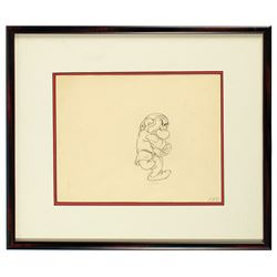 Original Grumpy Snow White Production Drawing.