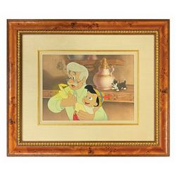 Pinocchio Original Production Cel and Background.