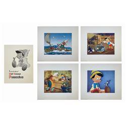 Pinocchio Premiere Portfolio with (4) Lithographs.