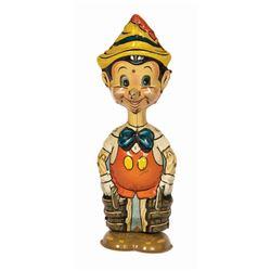 Walking Pinocchio Wind-Up Tin Toy.